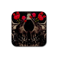 Death And Flowers Drink Coasters 4 Pack (square) by dflcprints
