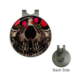 Death And Flowers Hat Clip With Golf Ball Marker by dflcprints