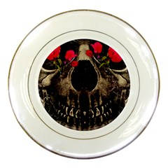 Death And Flowers Porcelain Display Plate by dflcprints