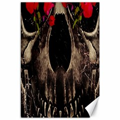 Death and Flowers Canvas 12  x 18  (Unframed) by dflcprints