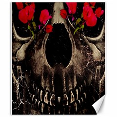 Death And Flowers Canvas 20  X 24  (unframed) by dflcprints
