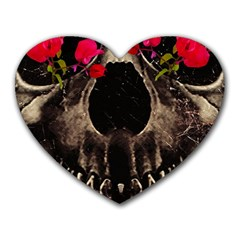 Death and Flowers Mouse Pad (Heart) by dflcprints