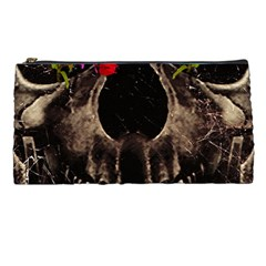 Death And Flowers Pencil Case by dflcprints