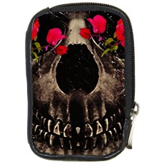 Death And Flowers Compact Camera Leather Case by dflcprints