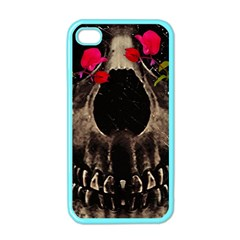 Death And Flowers Apple Iphone 4 Case (color) by dflcprints