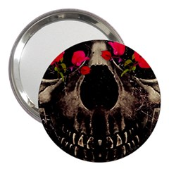 Death And Flowers 3  Handbag Mirror by dflcprints