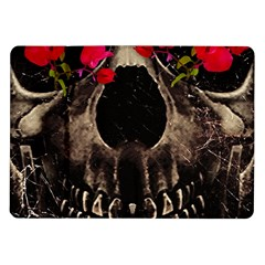 Death And Flowers Samsung Galaxy Tab 10 1  P7500 Flip Case by dflcprints
