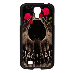 Death And Flowers Samsung Galaxy S4 I9500/ I9505 Case (black) by dflcprints