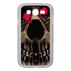 Death And Flowers Samsung Galaxy Grand Duos I9082 Case (white) by dflcprints