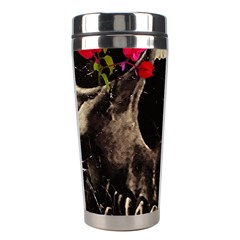 Death And Flowers Stainless Steel Travel Tumbler by dflcprints