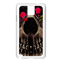 Death And Flowers Samsung Galaxy Note 3 N9005 Case (white) by dflcprints