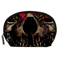 Death And Flowers Accessory Pouch (large) by dflcprints