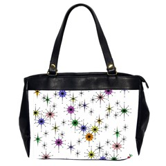 Mod Sparkle Oversize Office Handbag (two Sides) by CrackedRadish