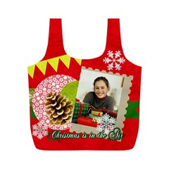 Merry Christmas By Merry Christmas   Full Print Recycle Bag (m)   Ca6emn5zpc2h   Www Artscow Com Back
