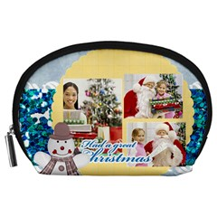 By Merry Christmas   Accessory Pouch (large)   0y4ysmnjy2hm   Www Artscow Com Front