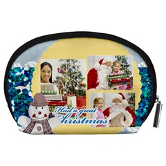 By Merry Christmas   Accessory Pouch (large)   0y4ysmnjy2hm   Www Artscow Com Back