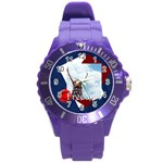 usa - Round Plastic Sport Watch (L)