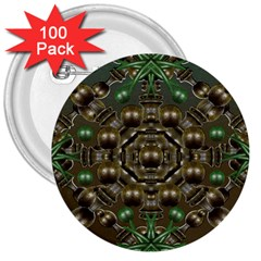 Japanese Garden 3  Button (100 Pack) by dflcprints