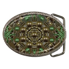 Japanese Garden Belt Buckle (oval) by dflcprints
