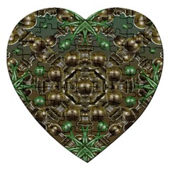 Japanese Garden Jigsaw Puzzle (heart) by dflcprints