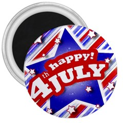 4th Of July Celebration Design 3  Button Magnet by dflcprints