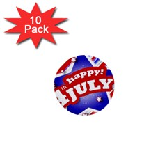 4th Of July Celebration Design 1  Mini Button (10 Pack) by dflcprints