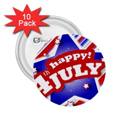 4th Of July Celebration Design 2 25  Button (10 Pack)