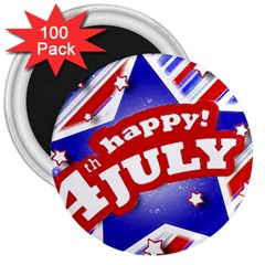 4th Of July Celebration Design 3  Button Magnet (100 Pack) by dflcprints