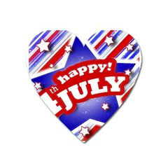 4th Of July Celebration Design Magnet (heart)