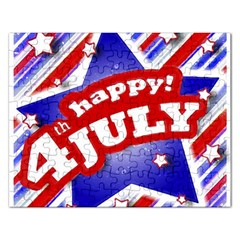 4th Of July Celebration Design Jigsaw Puzzle (rectangle) by dflcprints