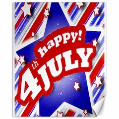 4th Of July Celebration Design Canvas 11  X 14  (unframed) by dflcprints