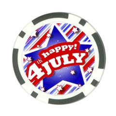 4th Of July Celebration Design Poker Chip by dflcprints