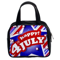 4th Of July Celebration Design Classic Handbag (two Sides) by dflcprints