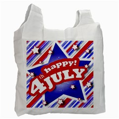 4th of July Celebration Design White Reusable Bag (Two Sides) by dflcprints