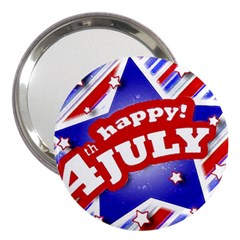 4th Of July Celebration Design 3  Handbag Mirror by dflcprints