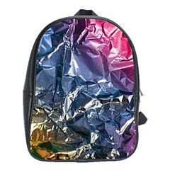 Texture   Rainbow Foil By Dori Stock School Bag (large) by TheWowFactor