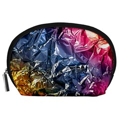 Texture   Rainbow Foil By Dori Stock Accessory Pouch (Large) by TheWowFactor