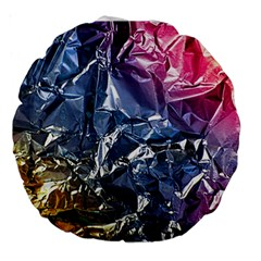 Texture   Rainbow Foil By Dori Stock 18  Premium Round Cushion