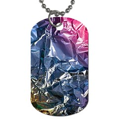 Texture   Rainbow Foil By Dori Stock Dog Tag (one Sided) by TheWowFactor