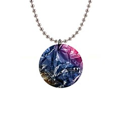 Texture   Rainbow Foil By Dori Stock Button Necklace by TheWowFactor