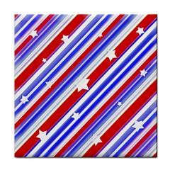 American Motif Ceramic Tile by dflcprints