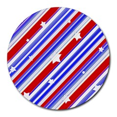 American Motif 8  Mouse Pad (round) by dflcprints