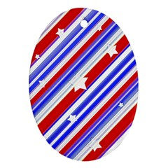 American Motif Oval Ornament by dflcprints