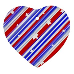 American Motif Heart Ornament by dflcprints
