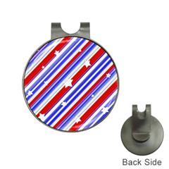 American Motif Hat Clip With Golf Ball Marker by dflcprints