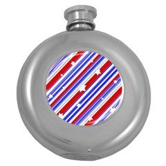 American Motif Hip Flask (round) by dflcprints