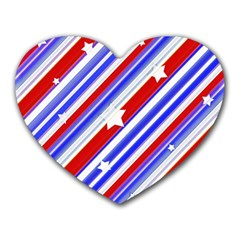 American Motif Mouse Pad (heart) by dflcprints