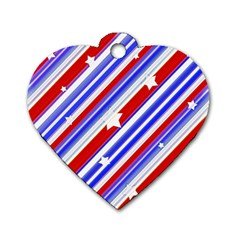 American Motif Dog Tag Heart (two Sided) by dflcprints