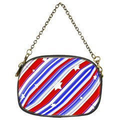 American Motif Chain Purse (two Sided)  by dflcprints