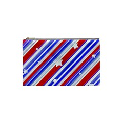 American Motif Cosmetic Bag (small) by dflcprints